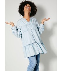 blouse angel of style lichtblauw