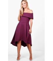 plus double layer midi dress, burgundy