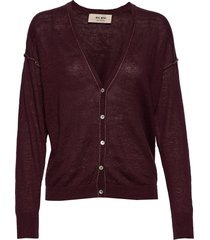 lark linen knit cardigan gebreide trui cardigan rood mos mosh
