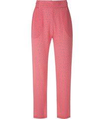 eva boquinhas printed silk trousers - red