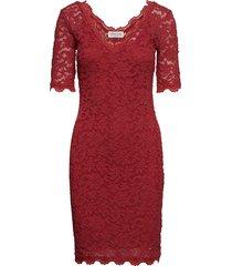 dress ss jurk knielengte rood rosemunde