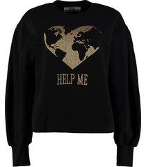alberta ferretti embroidered cotton sweatshirt