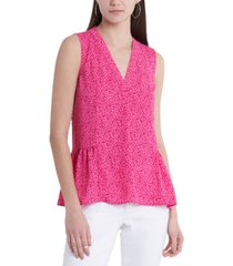 vince camuto floral-print ruffled top