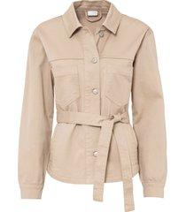 giacca in cotone biologico con cintura (beige) - bodyflirt