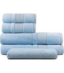 jogo de toalhas de banho 5 peças fio penteado appel splendore aurora