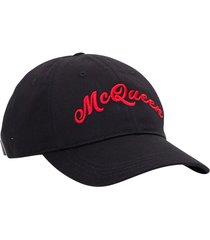 alexander mcqueen embroidered logo baseball cap