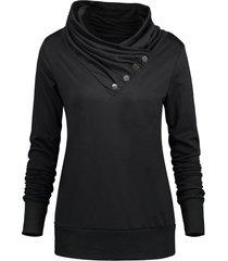 turtleneck pullover sweatshirt