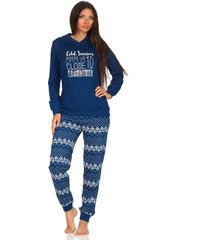 dames pyjama creative 65469-xl 48/50-blauw
