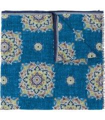 lady anne geometric-print scarf - blue