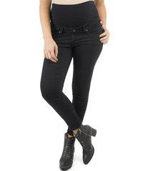 jeans pitillo negro madremía