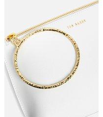 ted baker women's ingaah textured ring bracelet clutch - ivory