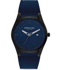 kenneth cole new york men's classic stainless steel & silicone strap watch