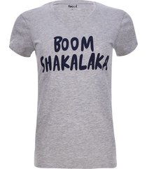 camiseta boom shakalaka color gris, talla l