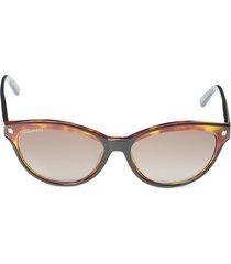 dsquared2 women's 58mm oval sunglasses - black