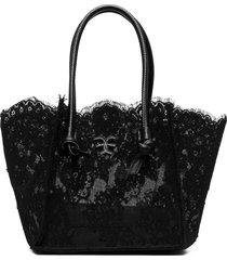 black small lace shopper