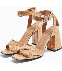 *wide fit sacha beige ankle tie block heels - beige
