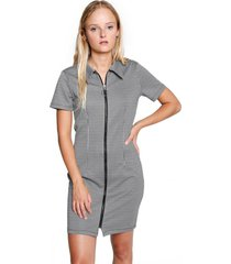 vestido corto oddity gris atrevida