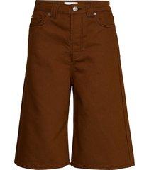 mixed denim bermudashorts shorts brun ganni