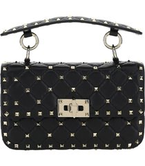 borsa donna a mano shopping in in pelle rockstud small