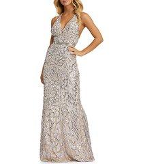 cheetah-spot sequin gown