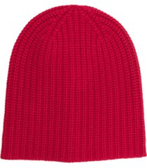 alex mill ribbed beanie - red
