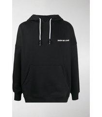 honey fucking dijon show me love print hoodie