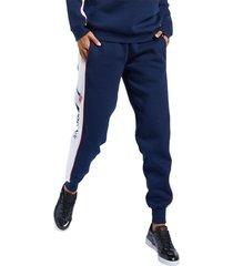 pantalón azul reebok classics linear fleece
