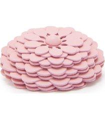 loewe stud flower bag charm - pink