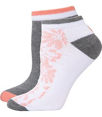 floral 4-pack half-cushion no-show socks