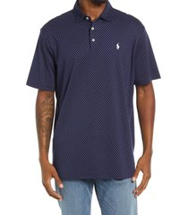 polo ralph lauren men's dot polo shirt, size x-large in french navy polka dot at nordstrom