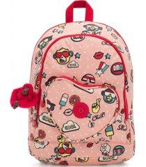 mochila heart rosa kipling