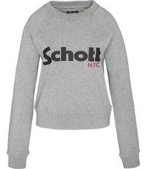 sweater schott sweatshirt sw ginger 1 w heather grey