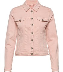 rikkacr jogg denim jacket jeansjacka denimjacka rosa cream