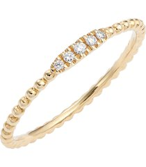 women's bony levy diamond & 18k gold bead stacking ring (nordstrom exclusive)