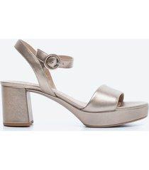 sandalia casual mujer unisa shoes sd5g dorado