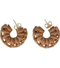 bottega veneta earrings circle braided