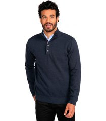 sweater casual azul marino guy laroche