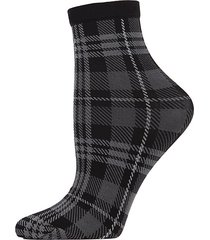 perfect plaid ankle socks
