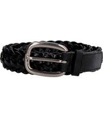 golden goose houston woven leather belt