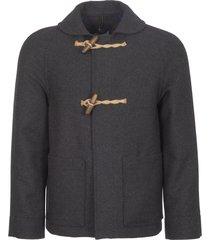 gloverall charcoal shawl collar coat ms5075bm