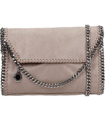stella mccartney falabella shoulder bag in taupe faux leather