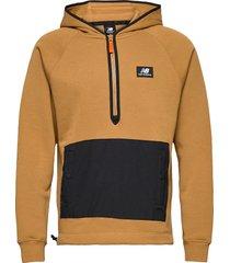 nb athletics terrain hoodie hoodie trui bruin new balance