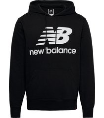 essentials stacked logo po hoodie hoodie trui zwart new balance