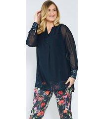 blouse sara lindholm nachtblauw