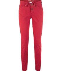 jeans elasticizzati in denim classico slim (rosso) - john baner jeanswear