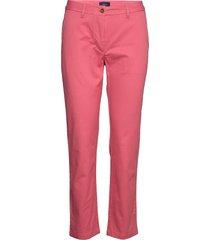 classic chino pantalon met rechte pijpen roze gant
