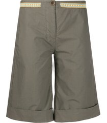 mr & mrs italy flared bermuda shorts - green