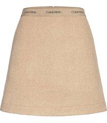 double face skirt kort kjol rosa calvin klein