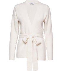 ribbed kimono gebreide trui cardigan crème davida cashmere
