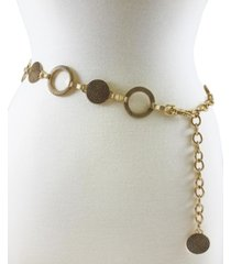 fashion focus accessories braided and ribbed disc chain